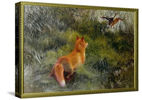 Eluding the Fox, 1912-Bruno Andreas Liljefors-Stretched Canvas Print