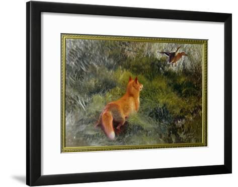 Eluding the Fox, 1912-Bruno Andreas Liljefors-Framed Art Print