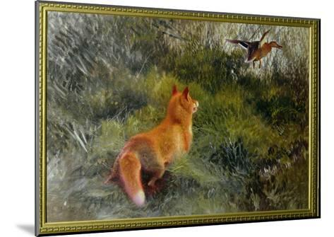 Eluding the Fox, 1912-Bruno Andreas Liljefors-Mounted Giclee Print