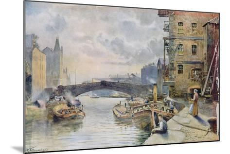 Leeds Bridge from Aire and Calder Navigation Wharf, 1911-Arthur Netherwood-Mounted Giclee Print