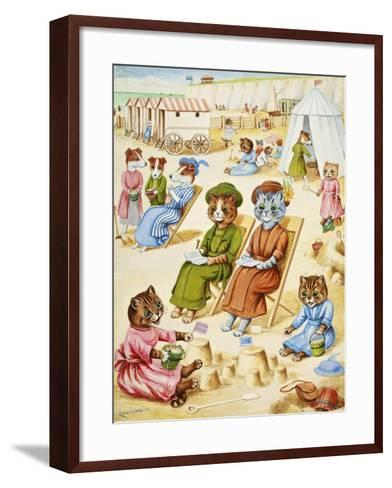Holiday Time-Louis Wain-Framed Art Print