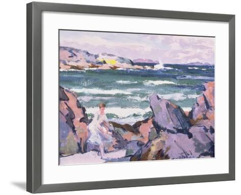 North Wind, Iona (The Bather)-Francis Campbell Boileau Cadell-Framed Art Print