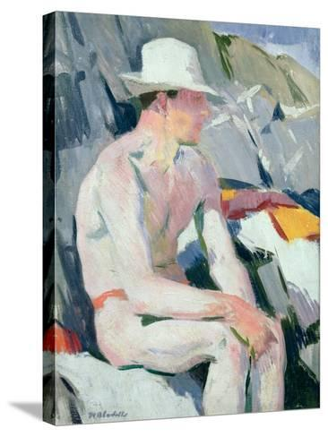 Bather in a White Hat-Francis Campbell Boileau Cadell-Stretched Canvas Print