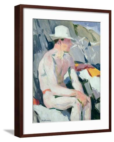 Bather in a White Hat-Francis Campbell Boileau Cadell-Framed Art Print