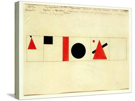Design for the Speaker's Rostrum, 1919-Kasimir Malevich-Stretched Canvas Print