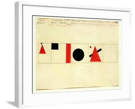 Design for the Speaker's Rostrum, 1919-Kasimir Malevich-Framed Art Print