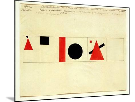 Design for the Speaker's Rostrum, 1919-Kasimir Malevich-Mounted Giclee Print