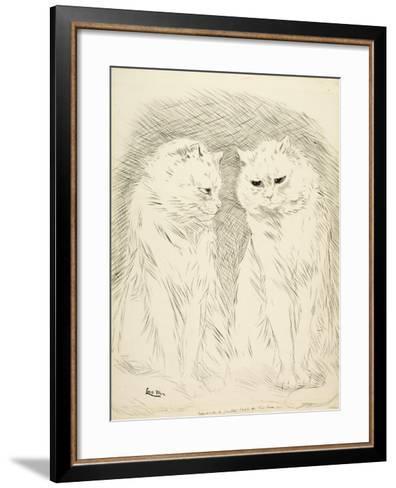 Pals-Louis Wain-Framed Art Print