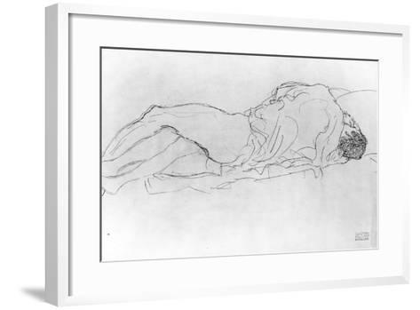 Couple in Bed, c.1915-Gustav Klimt-Framed Art Print