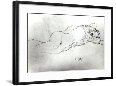 Reclining Woman, c.1914-Gustav Klimt-Framed Art Print