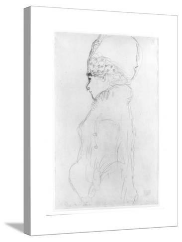 Lady with a Tall Hat, c.1917-Gustav Klimt-Stretched Canvas Print