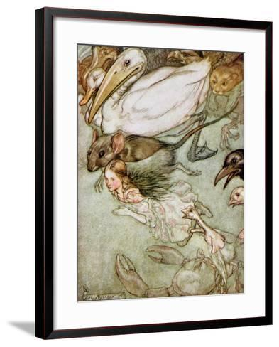 The Pool of Tears, from 'Alice's Adventures in Wonderland' by Lewis Carroll (1832-98) 1907-Arthur Rackham-Framed Art Print