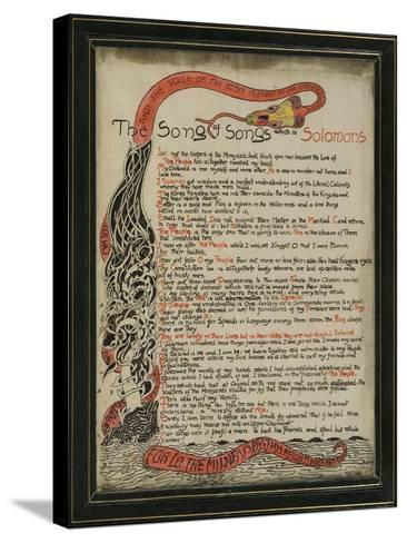 The Song of Songs Which Is Solomon's, 8th September 1907-Rudyard Kipling-Stretched Canvas Print