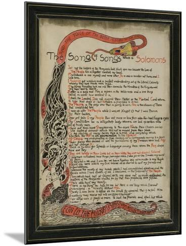 The Song of Songs Which Is Solomon's, 8th September 1907-Rudyard Kipling-Mounted Giclee Print