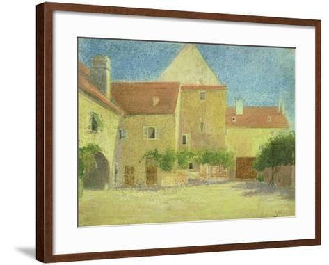 Courtyard of a Forge-Egon Schiele-Framed Art Print