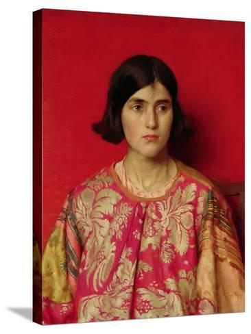 """The Exile: """"Heavy Is the Price I Paid for Love"""", 1930-Thomas Cooper Gotch-Stretched Canvas Print"""
