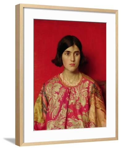 """The Exile: """"Heavy Is the Price I Paid for Love"""", 1930-Thomas Cooper Gotch-Framed Art Print"""