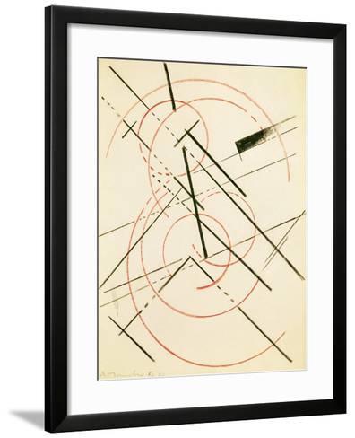 Linear Composition-Lyubov Sergeevna Popova-Framed Art Print