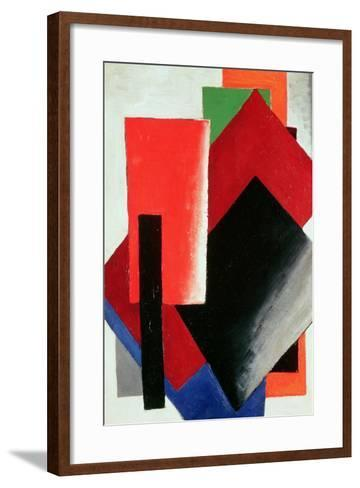Architectonic Composition, 1918-Lyubov Sergeevna Popova-Framed Art Print