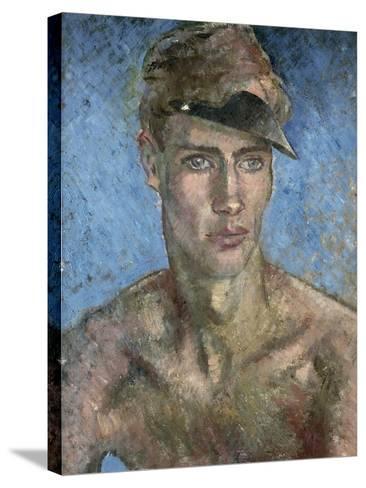 Young Man Wearing a Sun Visor-Glyn Warren Philpot-Stretched Canvas Print
