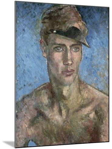 Young Man Wearing a Sun Visor-Glyn Warren Philpot-Mounted Giclee Print