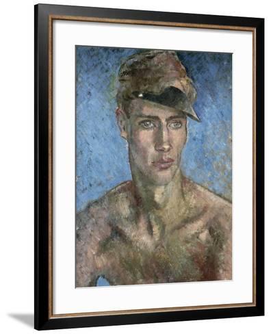 Young Man Wearing a Sun Visor-Glyn Warren Philpot-Framed Art Print