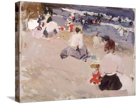 People Sitting on the Beach, 1906-Joaqu?n Sorolla y Bastida-Stretched Canvas Print