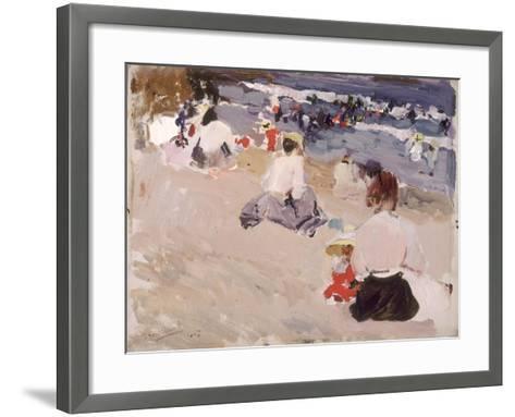 People Sitting on the Beach, 1906-Joaqu?n Sorolla y Bastida-Framed Art Print