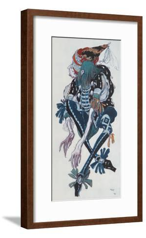 Costume Design for the Pageboy of the Wicked Fairy Carabosse, from Sleeping Beauty, 1918-Leon Bakst-Framed Art Print
