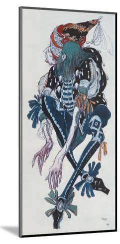 Costume Design for the Pageboy of the Wicked Fairy Carabosse, from Sleeping Beauty, 1918-Leon Bakst-Mounted Giclee Print