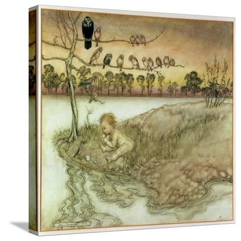 Illustration to 'Peter Pan in Kensington Gardens' by J.M. Barrie, 1912-Arthur Rackham-Stretched Canvas Print