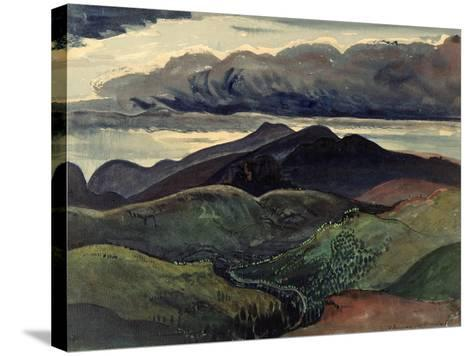 The Dark Mountains (Brecon Beacons)-James Dickson Innes-Stretched Canvas Print
