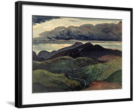 The Dark Mountains (Brecon Beacons)-James Dickson Innes-Framed Art Print