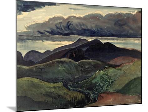 The Dark Mountains (Brecon Beacons)-James Dickson Innes-Mounted Giclee Print