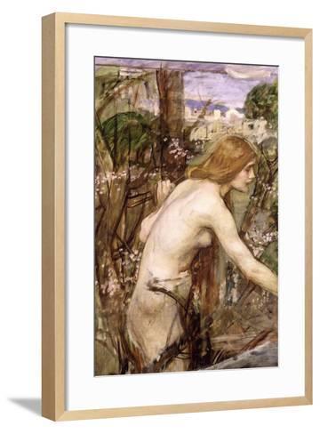The Flower Picker-John William Waterhouse-Framed Art Print