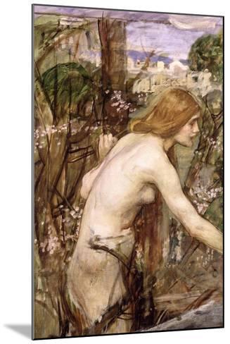 The Flower Picker-John William Waterhouse-Mounted Giclee Print