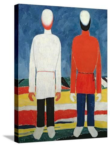 Two Masculine Figures, 1928-32-Kasimir Malevich-Stretched Canvas Print