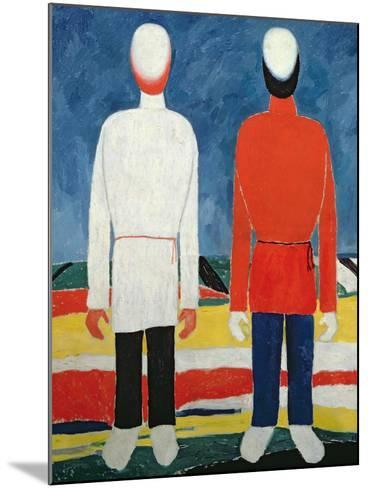 Two Masculine Figures, 1928-32-Kasimir Malevich-Mounted Giclee Print