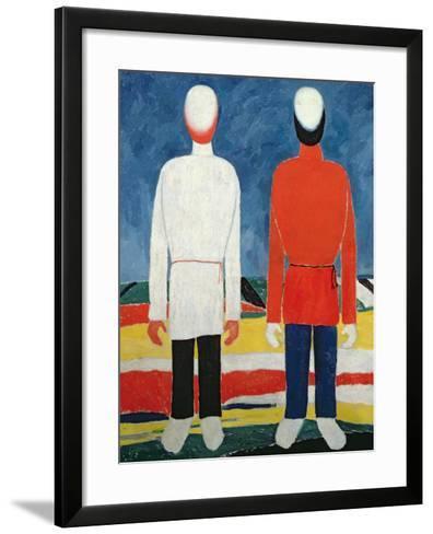 Two Masculine Figures, 1928-32-Kasimir Malevich-Framed Art Print