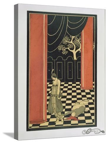 Tamara Karsavina (1885-1978) in Fokine's 'Thamar' in 1912, Pub. 1914-Georges Barbier-Stretched Canvas Print