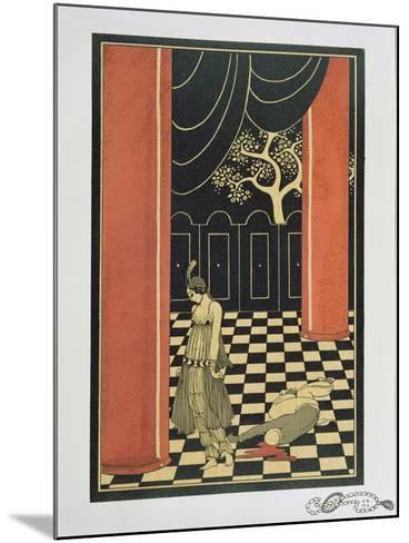 Tamara Karsavina (1885-1978) in Fokine's 'Thamar' in 1912, Pub. 1914-Georges Barbier-Mounted Giclee Print