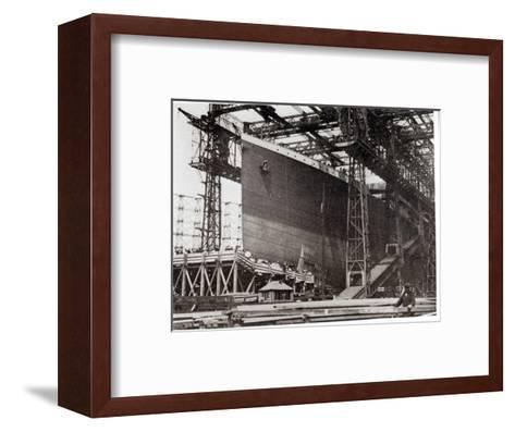 The Titanic in Belfast Dock, 1911--Framed Art Print