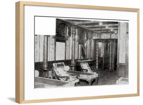 The Turkish Bath Cooling Room on Board the Titanic, 1912--Framed Art Print