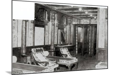 The Turkish Bath Cooling Room on Board the Titanic, 1912--Mounted Photographic Print