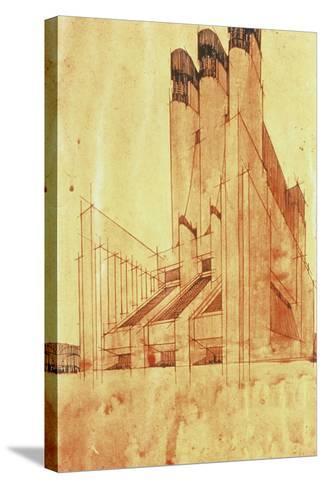 Study for a Building, 1913-Antonio Sant'Elia-Stretched Canvas Print