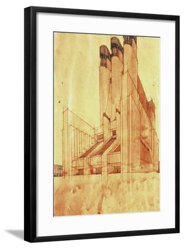 Study for a Building, 1913-Antonio Sant'Elia-Framed Art Print