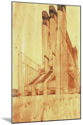 Study for a Building, 1913-Antonio Sant'Elia-Mounted Giclee Print