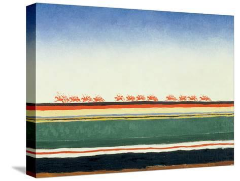 Red Cavalry, 1928-32-Kasimir Malevich-Stretched Canvas Print