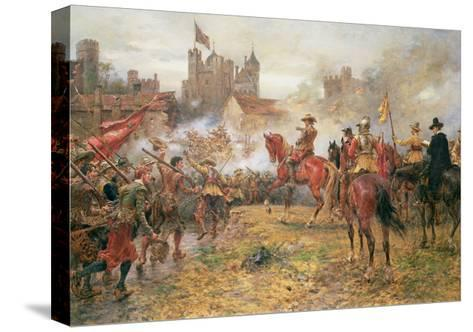 Cromwell at the Storming of Basing House, 1900-Ernest Crofts-Stretched Canvas Print