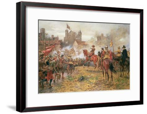 Cromwell at the Storming of Basing House, 1900-Ernest Crofts-Framed Art Print